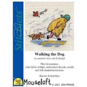 Mouseloft Borduurpakket Walking the Dog - Mouseloft
