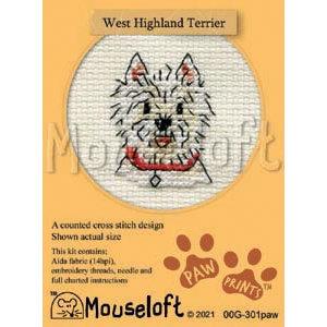 Mouseloft Borduurpakket West Highland Terrier - Mouseloft
