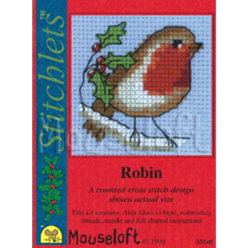 Mouseloft Borduurpakket Robin - Mouseloft