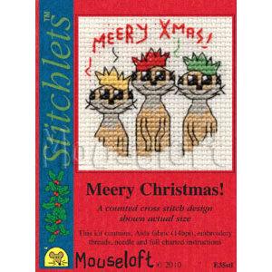Mouseloft Borduurpakket Meery Christmas! - Mouseloft