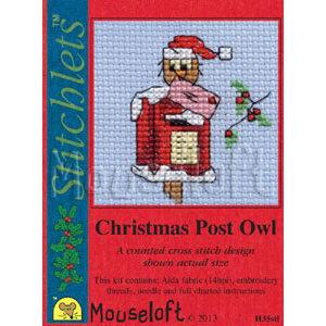 Mouseloft Borduurpakket Christmas Post Owl - Mouseloft