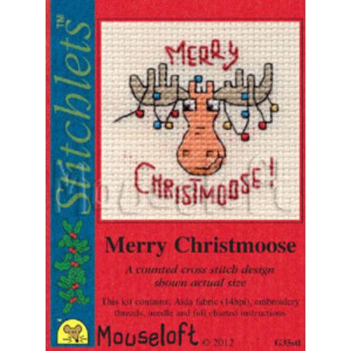 Mouseloft Borduurpakket Merry Christmoose - Mouseloft