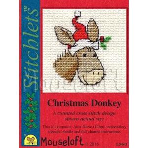 Mouseloft Borduurpakket Christmas Donkey - Mouseloft