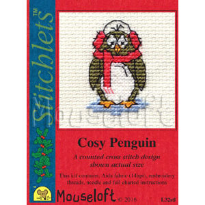 Mouseloft Borduurpakket Cosy Penguin - Mouseloft