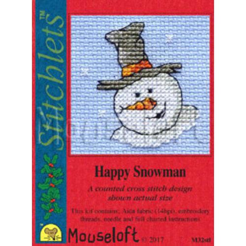 Mouseloft Borduurpakket Happy Snowman - Mouseloft