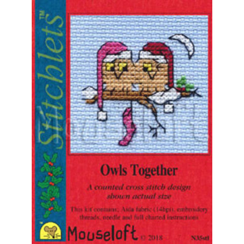 Mouseloft Borduurpakket Owls Together - Mouseloft