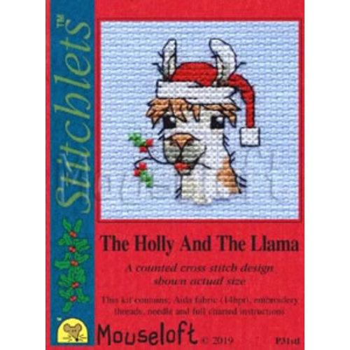 Mouseloft Borduurpakket The Holly And The Llama - Mouseloft