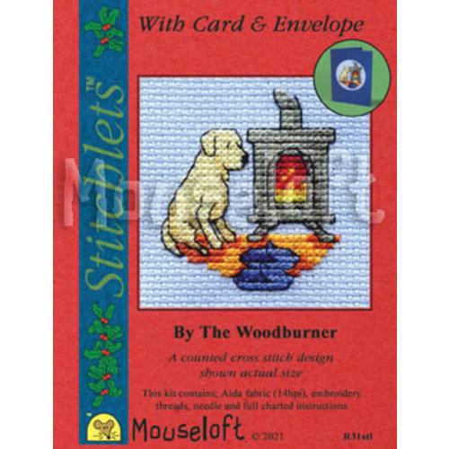 Mouseloft Borduurpakket By the Woodburner - Mouseloft