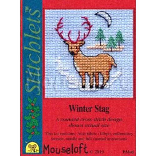Mouseloft Borduurpakket Winter Stag - Mouseloft