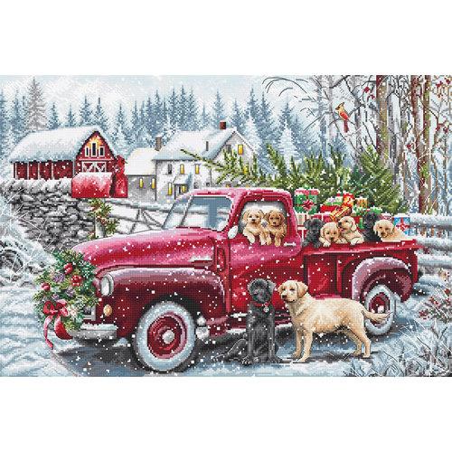 Leti Stitch Borduurpakket Christmas Delivery - Leti Stitch