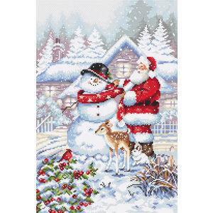 Leti Stitch Borduurpakket Snowman and Santa - Leti Stitch
