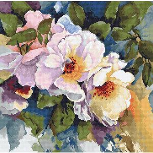Luca-S Borduurpakket Roses aquarelle - Luca-S