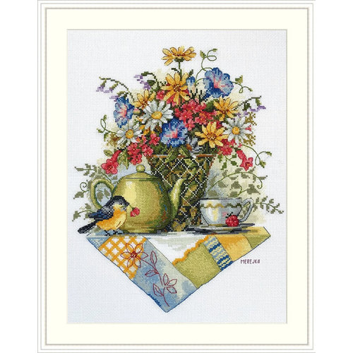 Merejka Borduurpakket Wildflower Tea - Merejka