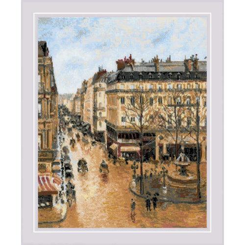 RIOLIS Borduurpakket Saint-Honoré Street after C. Pissarro's Painting - RIOLIS