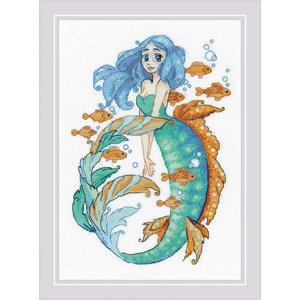 RIOLIS Borduurpakket Little Mermaid Aquamarine - RIOLIS
