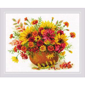 RIOLIS Borduurpakket Autumn Flowers - RIOLIS