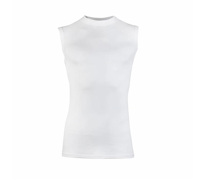 Heren Mouwloos Shirt Comfort Feeling Wit