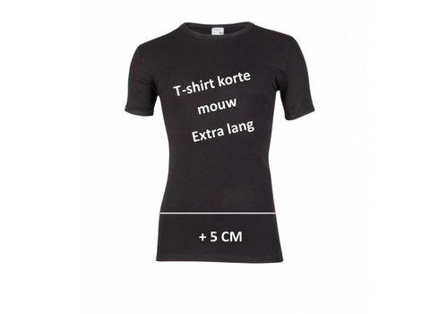 Beeren Ondergoed Beeren Heren T-shirt met Korte Mouw Extra Lang Zwart