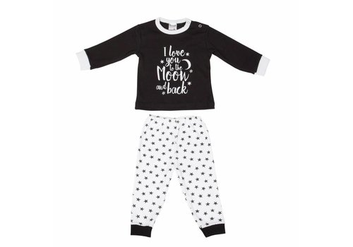 Beeren Ondergoed Beeren Baby pyjama to the Moon Zwart