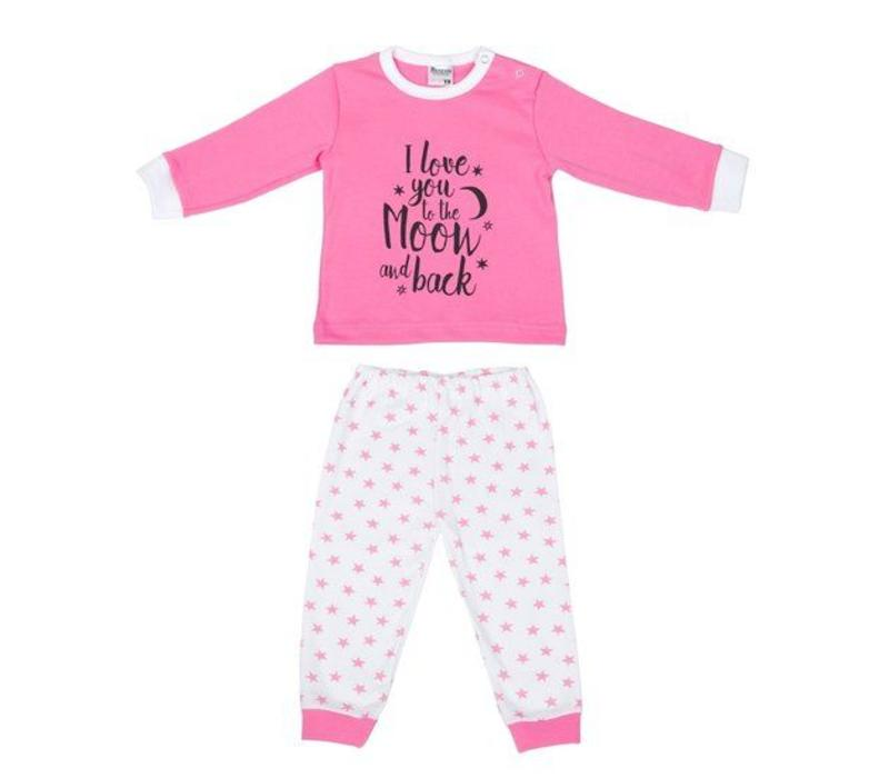 Beeren Baby pyjama to the Moon Roze