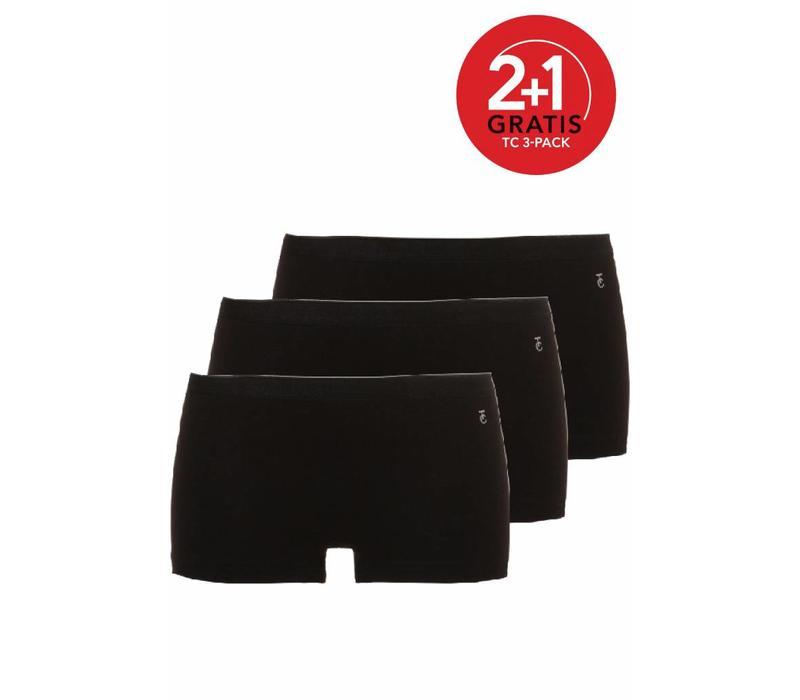 Ten Cate Dames Short 3-Pack Wit Zwart