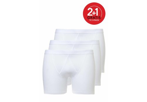 Ten Cate Ten Cate Heren Basic Boxer Fly 3-Pack Wit