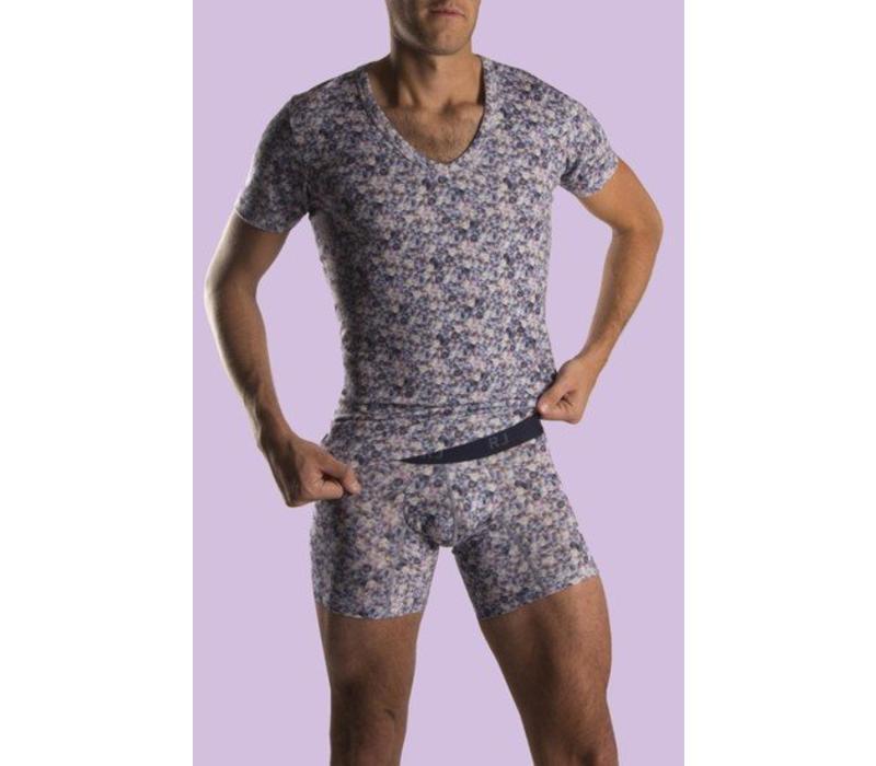 RJ Bodywear T-Shirt Met Diepe V-Hals Stretch Blok