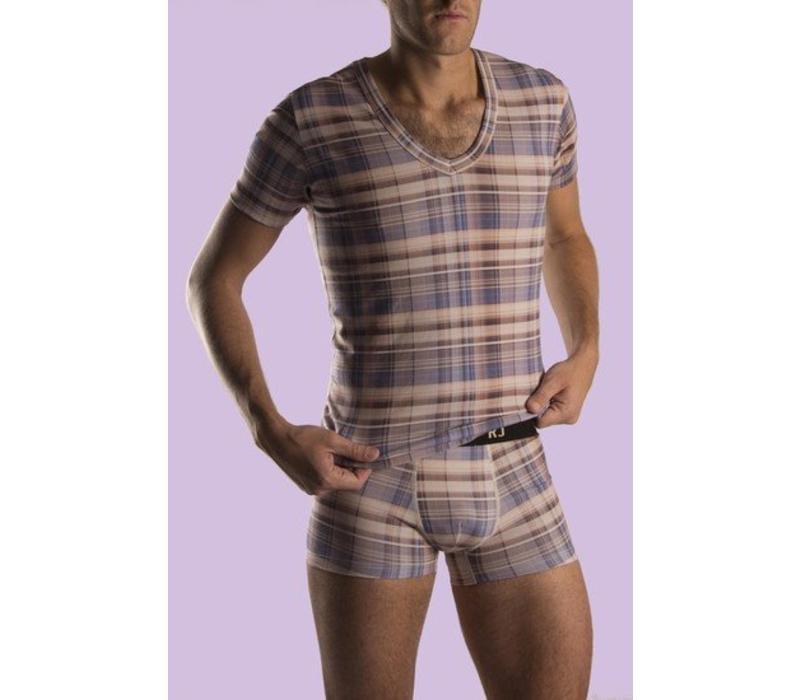 RJ Bodywear T-Shirt V-Hals Scottisch Strech