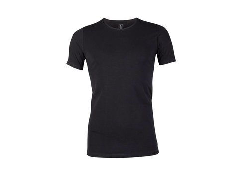 RJ Bodywear RJ Bodywear Heren V-hals T-shirt Zwart