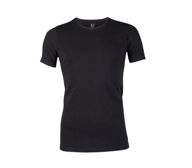 RJ Bodywear Heren V-hals T-shirt Zwart