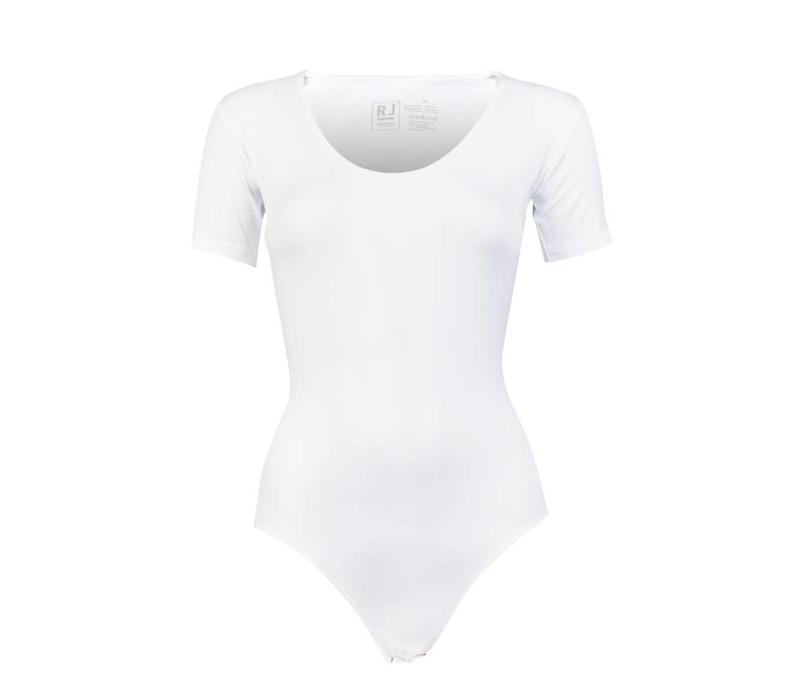 RJ Bodywear Pure Color Dames Body Wit