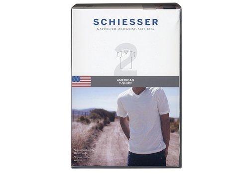Schiesser Schiesser T-shirt V-hals 2-pack