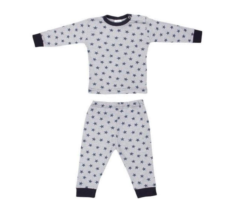 Beeren Baby pyjama Stripe/Star Blauw
