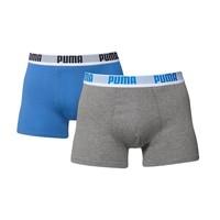 Puma Heren Boxer 4-pack Donker Blauw/Grijs