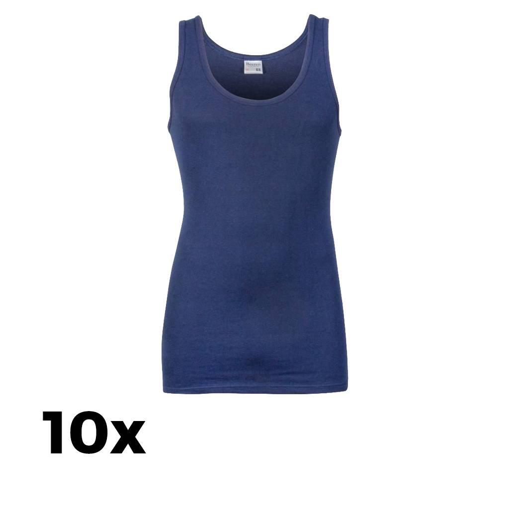 15f32588591 Beeren Heren Singlets M3000 Marine Blauw Bundel van 10 - Onderbroekplein