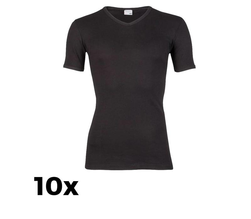 Beeren Heren T-shirt met V-Hals  M3000 Zwart Bundel van 10