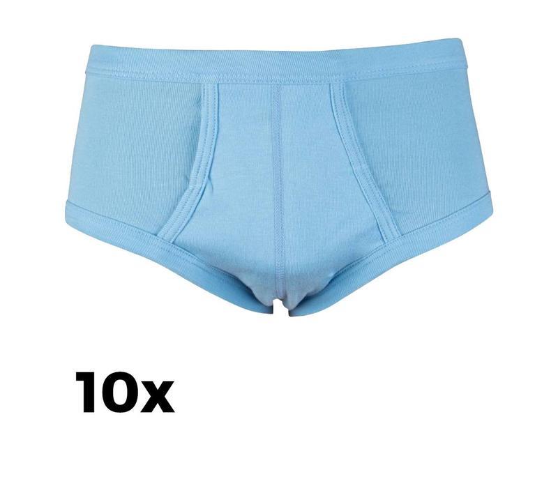 Beeren Ondergoed Heren Slips M3000 Licht Blauw Bundel van 10