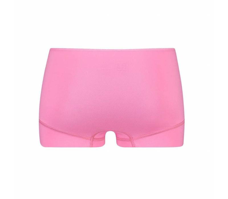 RJ Bodywear Dames Short Pure Color Felroze