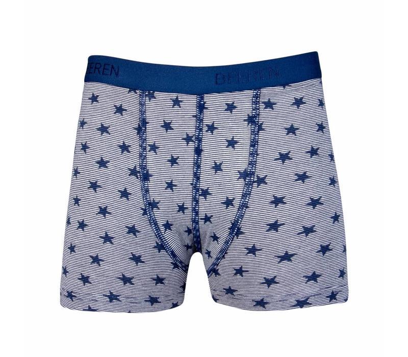 Beeren Jongens boxershort Stripe/Star Blauw