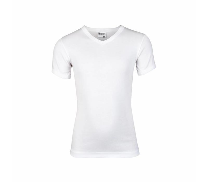 Jongens T-shirt V hals M3000 Wit