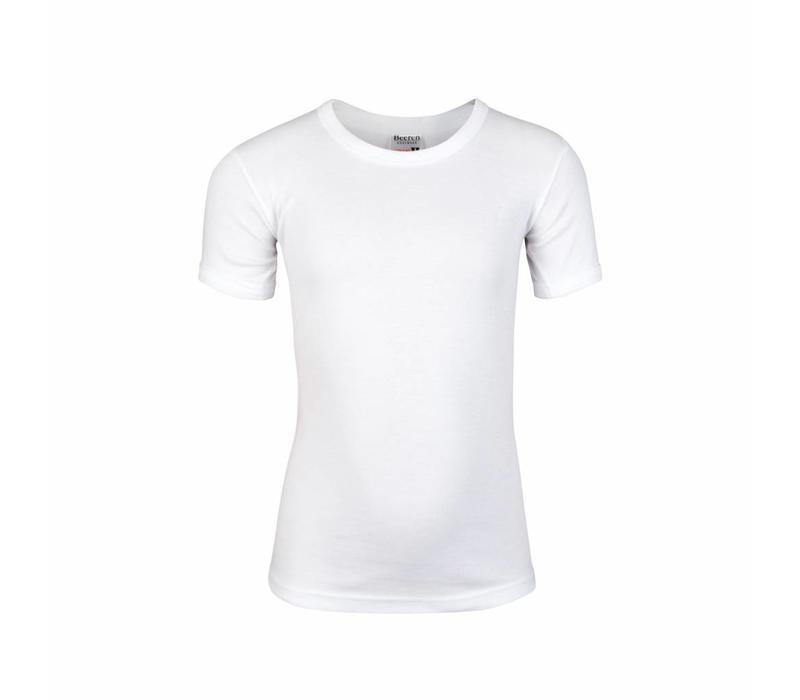Beeren Jongens T-shirt ronde hals Wit