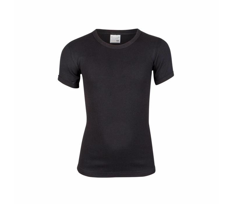 Beeren Jongens T-shirt ronde hals Zwart