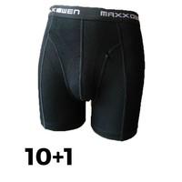 Maxx Owen Bamboe heren Boxershort  Zwart Bundel 10+1