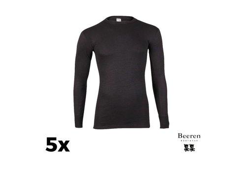 Beeren Ondergoed Heren Beeren ondergoed Thermo hemd L.M.  Zwart Bundel van 5