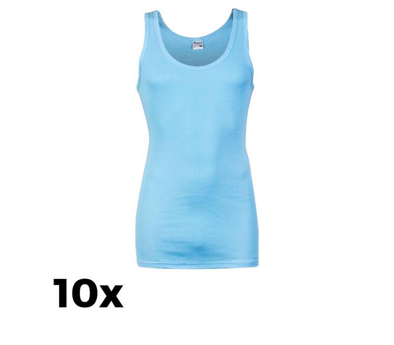 Beeren Ondergoed Heren  Singlets M3000 Blauw Bundel van 10