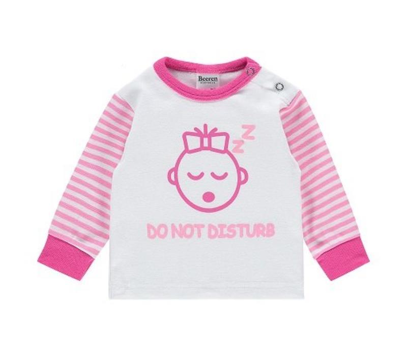 Beeren Baby pyjama Do Not Disturb Roze