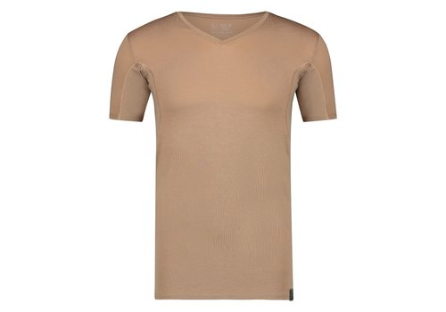 RJ Bodywear RJ SWEATPROOF STOCKHOLM HEREN V-HALS T-SHIRT Zand