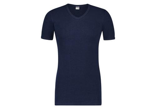Beeren Ondergoed Beeren Heren T-shirt K.M. V-hals  Extra Lang Marine