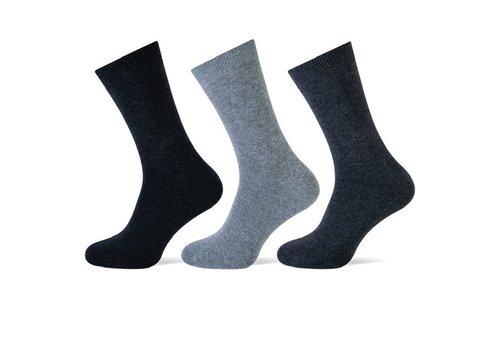 Teckel Heren sokken Antraciet bundel van 3