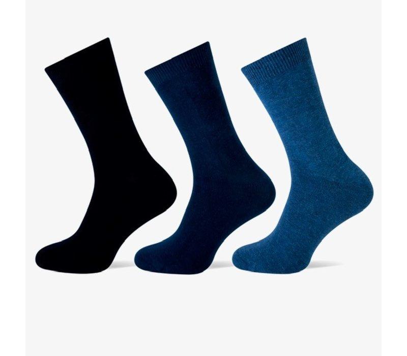 Teckel Heren sokken Blauw bundel van 3